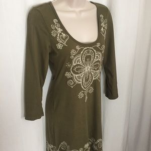 Johnny Was S Embroidered Dress